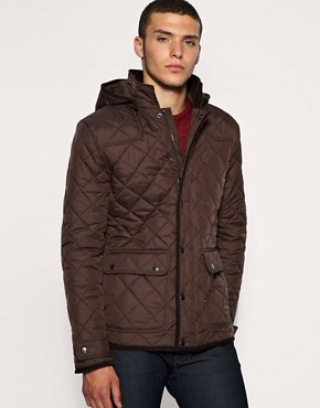 ASOS Quilted Removable Hood Field Jacket