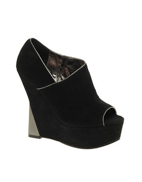 London Rebel | London Rebel Contrast Wedge at ASOS :  wedge designer heels shoe