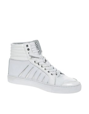 ASOS BLACK Slashed Hi-Top Trainers
