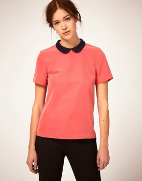 50% off ASOS Top With Jersey Collar 22.71$ + Free Shipping @ Asos.com/au