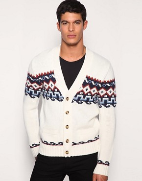 ASOS Chest Stripe Design Single Breasted Cardigan