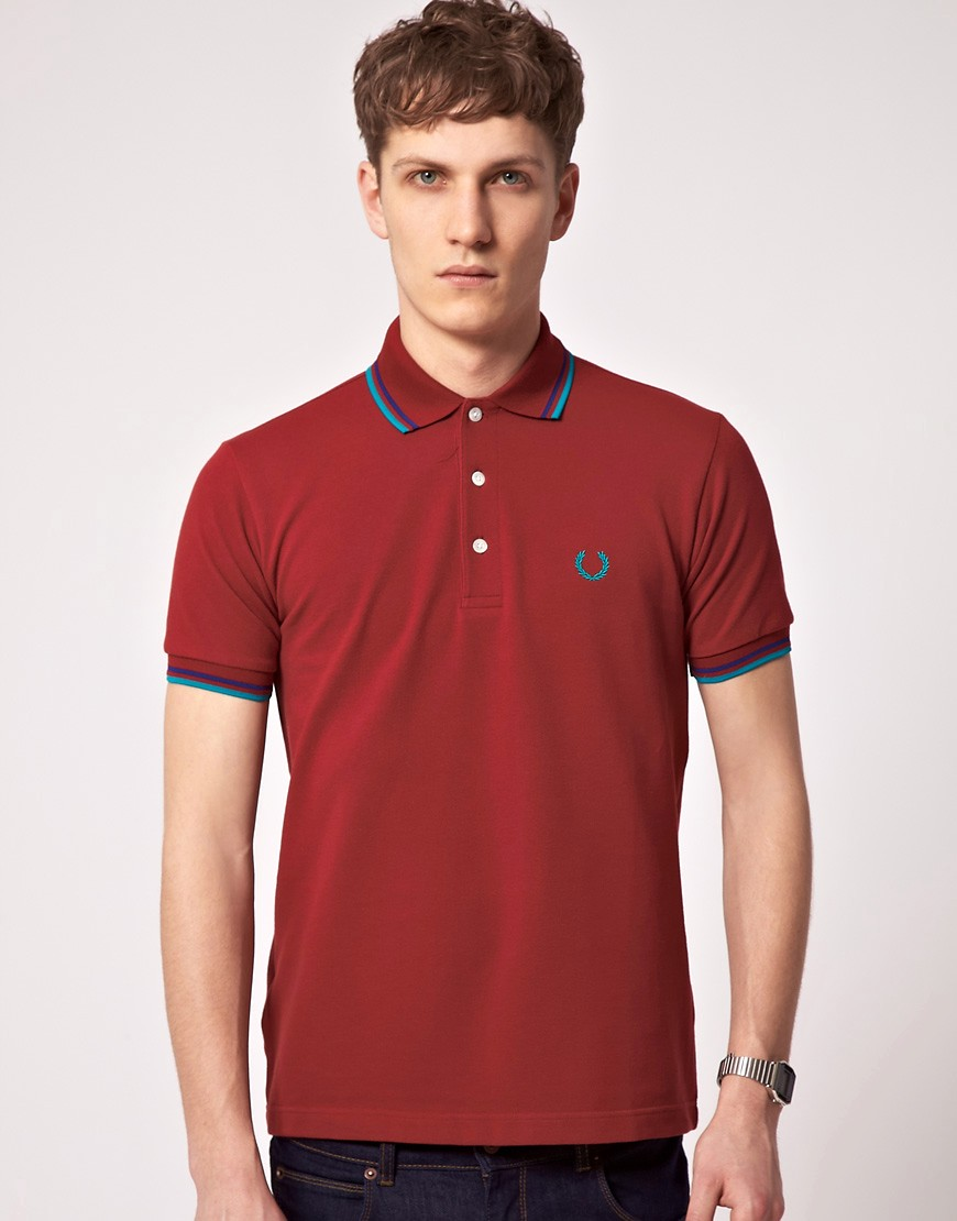 Polo con raya doble japonés de Fred Perry Laurel Wreath