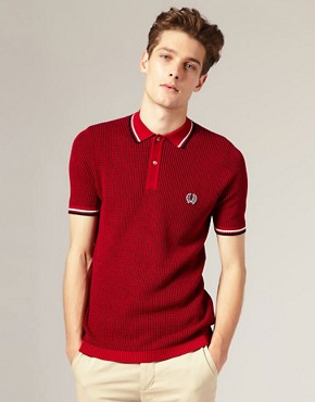 Fred Perry Laurel Wreath Textured Knitted Polo