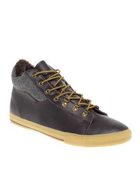ASOS Hiking Hi-Top Plimsolls