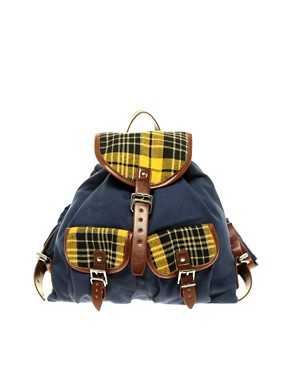 Image 1 of ASOS Mini Check Backpack