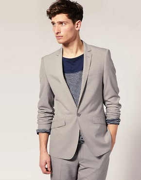 ASOS Slim Fit Light Grey Jacket