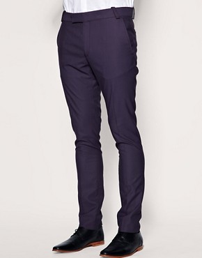 ASOS Slim Fit Purple Trousers