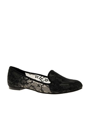 Image 1 of ASOS LORD OF THE MANOR Lace Slipper