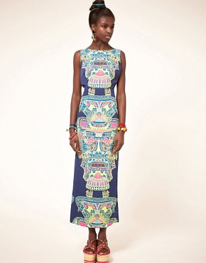 Image 1 of&#160;Mara Hoffman Printed Column Dress with Open Back