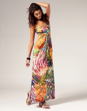 Image 4 of Miss Sixty Tropical Print Maxi Dress