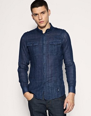 HE by Mango Military Sheer Shirt