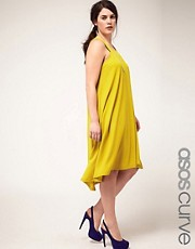 ASOS CURVE Exclusive Swing Dress in Crepe