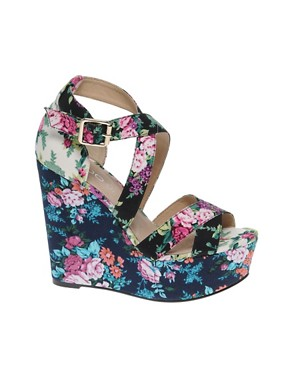 ALDO | ALDO Rinks Floral Wedge Sandals from us.asos.com