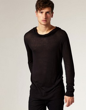 ASOS Lightweight Scoop Neck Knitted Hoodie