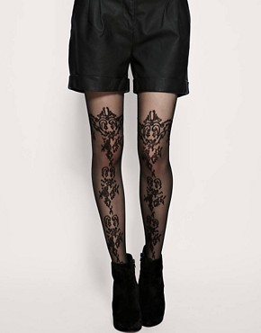 Image 1 of&#160;ASOS Pattern Sheer Tights