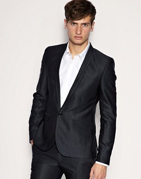 ASOS Super Skinny Fit Metallic Grey Jacket