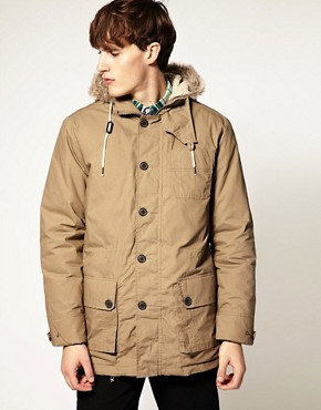 Plectrum by Ben Sherman Coated Parka Jacket