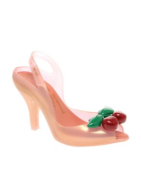 Vivienne Westwood for Melissa | Vivienne Westwood Anglomania Cherries Heeled Sling Back Shoes at ASOS