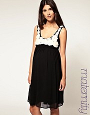 ASOS MATERNITY Chiffon Corsage Babydoll Dress