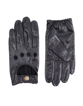 Dents Contrast Leather Driving Gloves