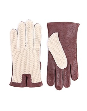 Dents Crochet Back Driving Gloves