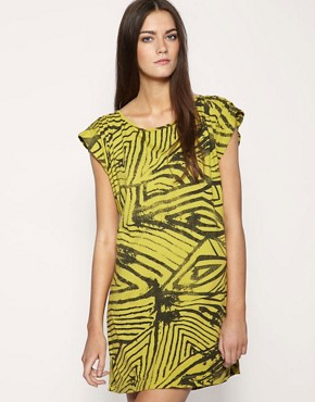 Image 1 of Firetrap Printed Oversize T-Shirt Dress