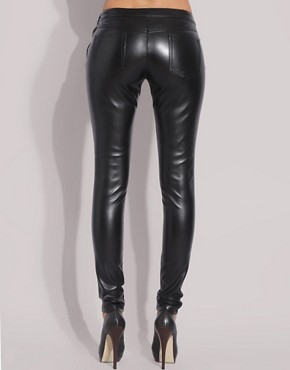 Image 2 ofASOS Faux Leather Leggings