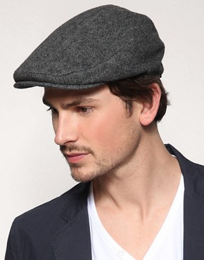 ASOS Collection Herringbone Flat Cap With Paisley Lining
