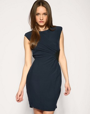 Whistles - Suede Side Panel Dress :  suede dress whistles silk dress blue suede