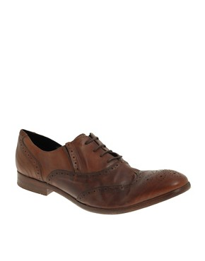 H By Hudson Rafferty Washed Brogue Shoes