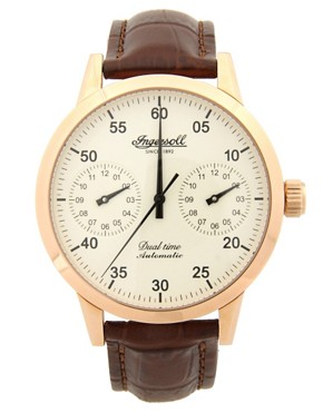 Ingersoll Brown Leather Strap Watch