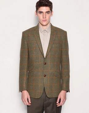 Gibson Chelsea Olive Check Sports Jacket
