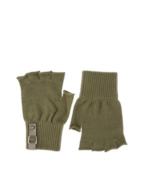 Diesel Knitted Fingerless Gloves