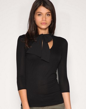 ASOS | ASOS Pussybow Top at ASOS :  black top