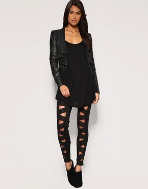 Image 1 of ASOS Premium Criss Cross Legging