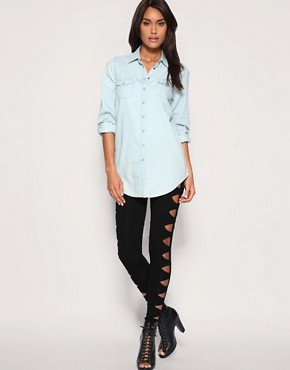 Image 1 of ASOS Slash Panel Legging
