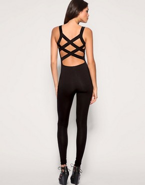 ASOS Cross Back Unitard :  one piece unitard asos halloween pieces