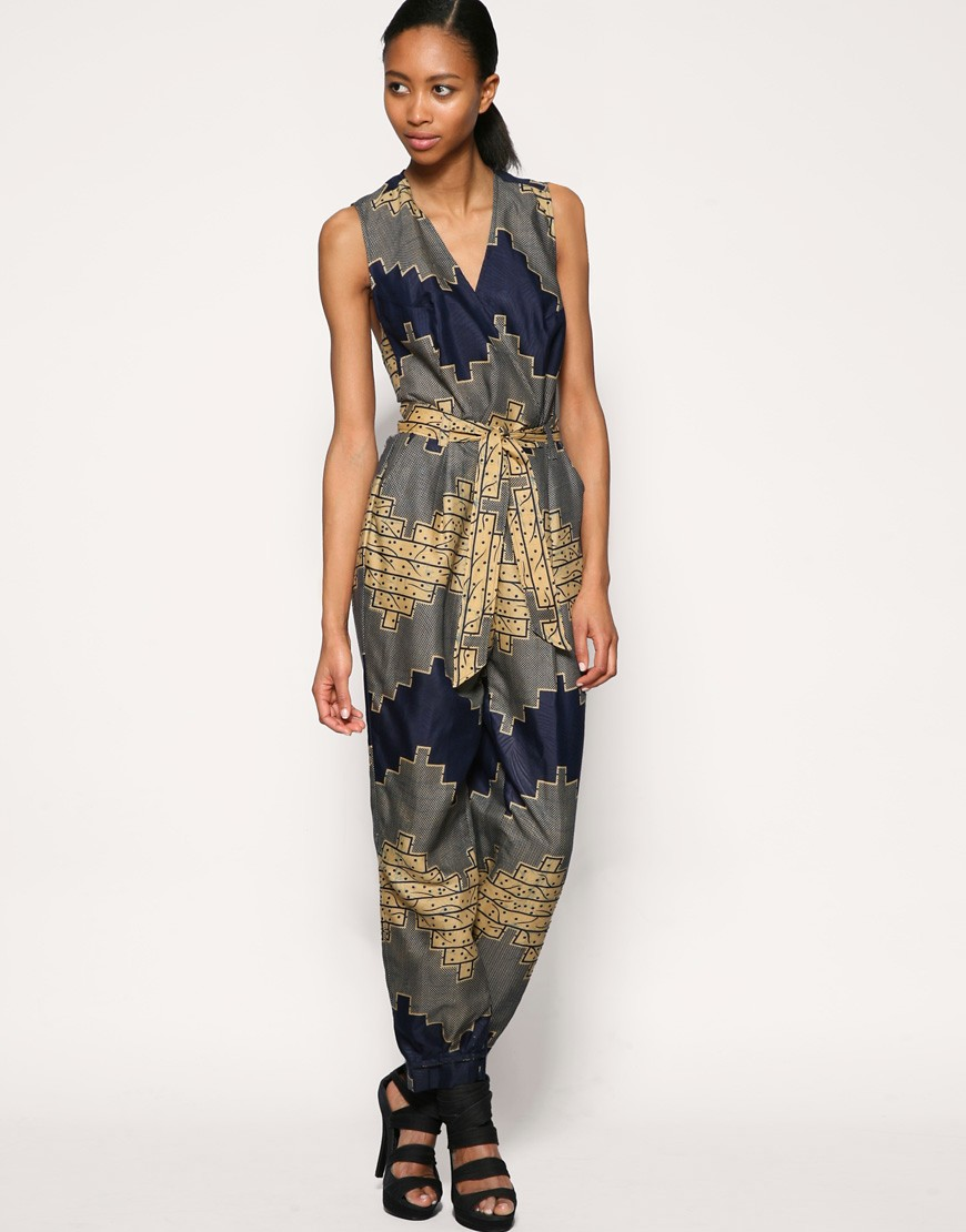 ASOS AFRICA - Printed Jumpsuit :  asos africa printed jumpsuit african print jumpsuit asos africa printed jumpsuit