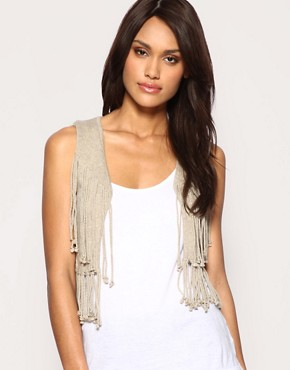 ASOS Fringe Waistcoat