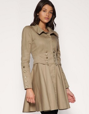 ASOS | ASOS Button Corset Waist Trench at ASOS