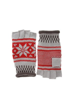 ASOS Fairisle Fingerless Gloves