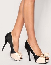 ASOS POSH Bow Heeled Shoe in the style of Pixie Lott