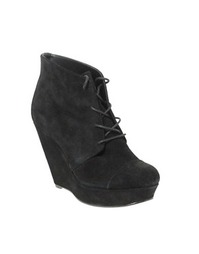 Image 1 of&#160;ASOS AVA Suede Lace Up Wedge Boot