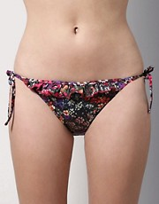 buy Paul Smith Rock Garden Floral Print Frilly Tie Side Briefs by Paul Smith in swimsuits shop