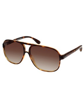 Marc By Marc Jacobs Square Acetate Aviator Sunglasses