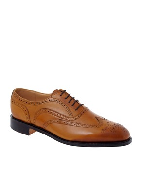 ASOS Made In England Burnished Leather Brogue Shoes
