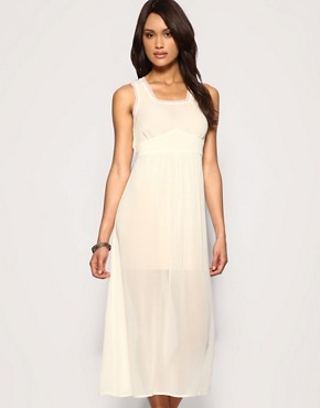Image 1 of ASOS Sheer Slip Dress