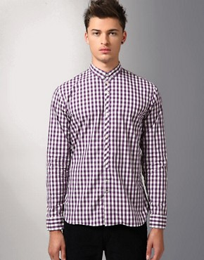 Paul Smith Jeans Gingham Check Long Sleeve Shirt