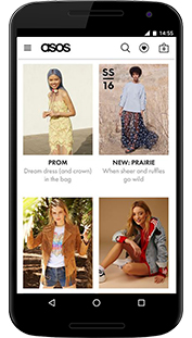 Download the Asos Shopping App from GooglePlay for your Android