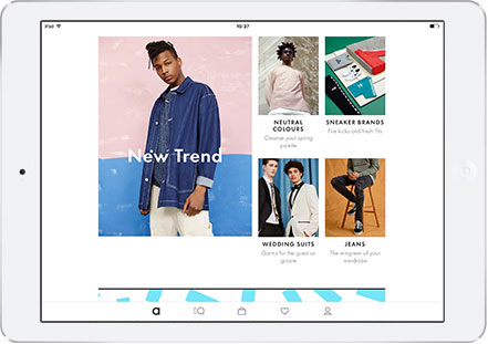 Download the Asos Shopping App on your IPad and IPad Mini